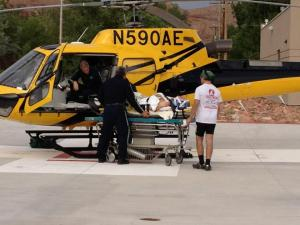 Seth Loading Dad Into Medevac